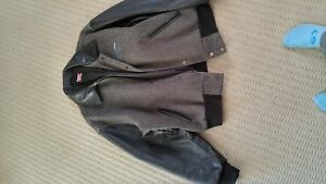 Men's Leather and Wool Jacket
