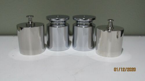 5kg cylindrical SS weights Class F Set of 4