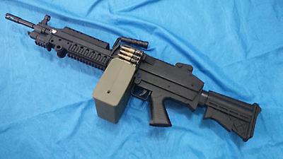M249 SAW electric toy gun light machinegun airsoft cosplay usmc seal movie prop  Airsoft Electric Toy Gun