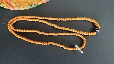 Old Sumba Island Orange Glass Beaded Necklace …beautiful collection piece
