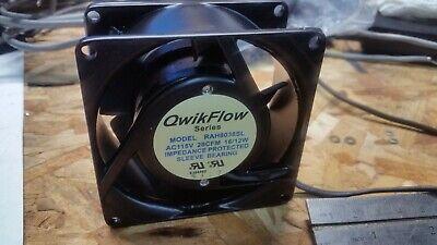 New Qwikflow Rah8038sl Axial 80mm X 35mm 115v-ac Fan 28cfm 1612w Aluminum Case