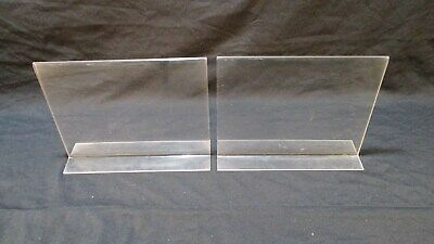Acrylic Sign Holder Table Bottom Load 8.5 X 11 Retail Store Display Lot Of 2