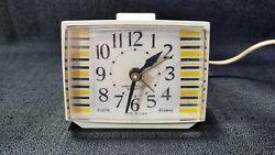 Working Vintage Westclox Electric Drowse Dialite Alarm Clock Art Deco MCM