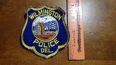 EARLY WILMINGTON DELAWARE POLICE DEPARTMENT OBSOLETE  PATCH BX 11#9