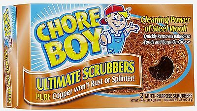 New 2pk CHORE BOY Copper Scrubbers Scorring Sponges Cleaning Kitchen Lawn Tools