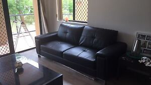 Leather look couch Bundall Gold Coast City Preview