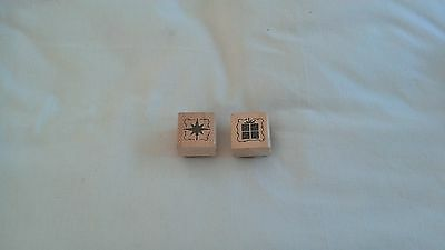 Set of 2 Christmas Craft Rubber Stamps