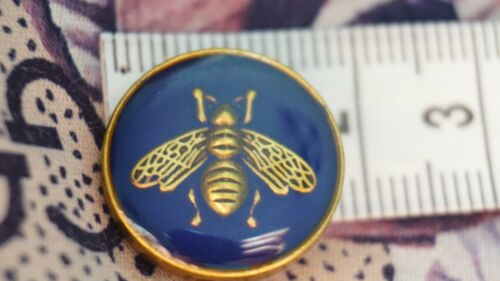 One GUCCI Button Blue Bee 17 mm 0,7 inch 1 pcs