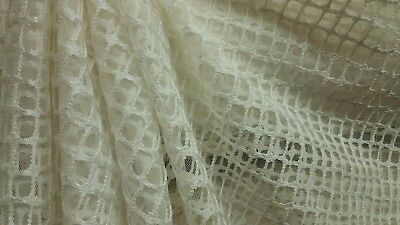 6 YARDS RARE HTF GORGEOUS DURALEE 51261 WHITE SHEER LACE CASEMENT DRAPERY FABRIC