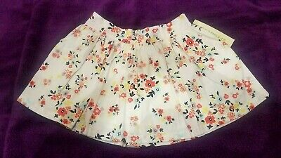OSHKOSH Genuine Kids Girls Flare Skirt 4T Side Pockes Spring Flowers NWT
