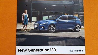 Hyundai i30 S SE Nav Premium sales brochure catalogue March 2017 MINT i 30