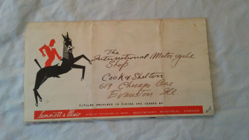 Original Ariel Motorcycle Sales Brochure Mailer 1940 Fold Out