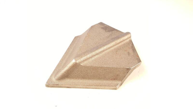 "Chisel Plow Point Chromium Carbide 3"" Cap  Weld on"