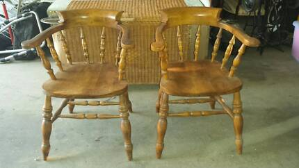 Captains Chairs in Solid Beech Timber Cedar Creek Gold Coast North Preview
