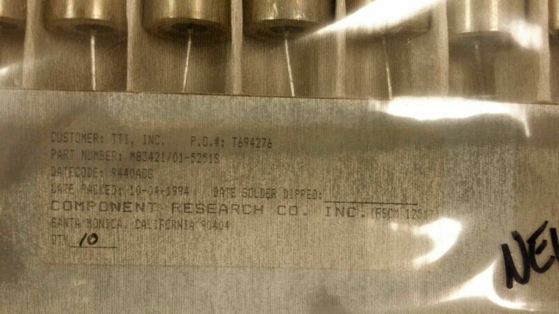 (1 PC) M83421/01-5251S CAPACITOR METALLIZED FILM POLYCARBONATE 400V 1.2 uF 5%