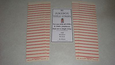 Jukebox Blank Title Strips, Jukebox Labels, 78rpm, 80 Strips, New Old Stock.
