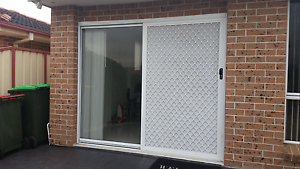 Sliding glass door with security screen and blinds Middleton Grange Liverpool Area Preview