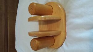 Salt - Pepper - Napkin Holder - Wood
