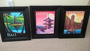 3 Prints with Frames - Like New