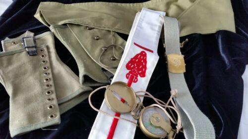 Boy Scout Costume Accessories Fold Compass Arrow Sash Belt Official Leggings VTG
