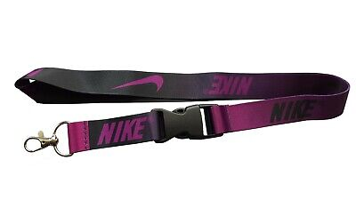 Nike Lanyard Detachable Keychain Black/Purple Ombre Neck Strap for ID Keys Badge