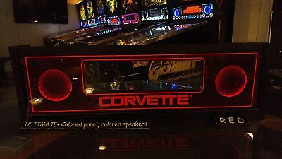 Corvette COR - Lighted Pinball LED Speaker Panel - ULTIMATE