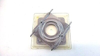 Multi-purpose Swivel Base 3 Indented Square Lot Of 4 Bases