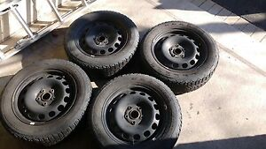 Winter tires with steel wheels 205/60\R16