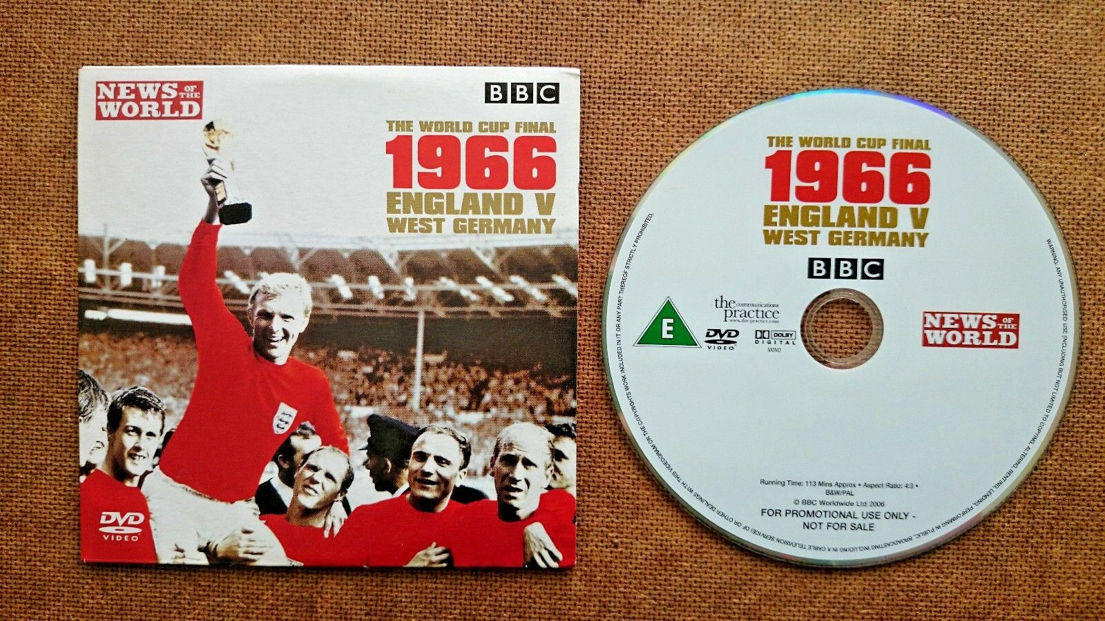 1966 World Cup Final England v Germany  DVD  Released by The News of the World