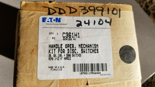 Eaton CUTLER-HAMMER C361H1 HANDLE OPERATOR DISCONNECT SWITCHE - NEW nib sealed