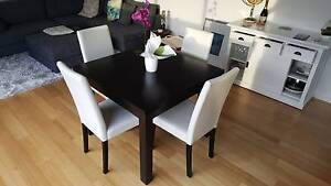 Hardwood Timber Dining Table and 4 Chairs Brunswick Moreland Area Preview