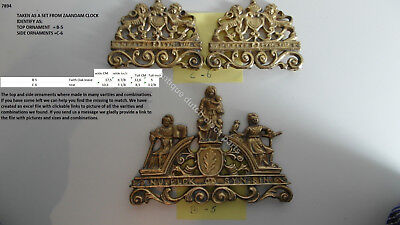 Used, DUTCH ZAANSE ZAANDAM CLOCK TOP CASE FRONT & SIDE ORNAMENT FAITH & HOPE & CHARITY for sale  Shipping to United States