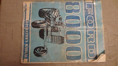 Ford 8000 Operators Manual
