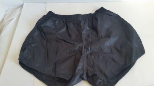 Vtg Adult Soffe Shorts Black Shiny Nylon No Liner Sz 32-34 Made in USA