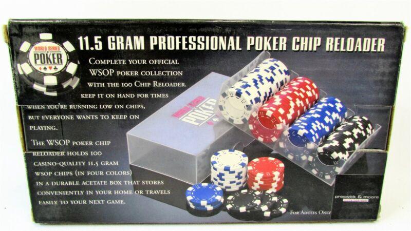 WSOP 11.5 Gram Professional Poker Chip Reloader Excalibur Electronics