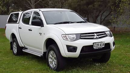 2012 Mitsubishi Triton GLX Dual Cab 4X4 turbo diesel Canopy steps Gulfview Heights Salisbury Area Preview