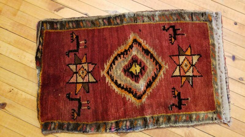 Vintage Turkish Bohemian Tribal Rug 1