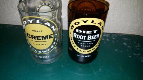 Set of Two BOYLAN BOTTLE WORKS DIET ROOT BEER & RARE CREAM SODA