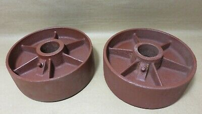 Industrial Vintage Cast Iron Cart Wheels 5 1316 X 2 516 By 1 516 Bore