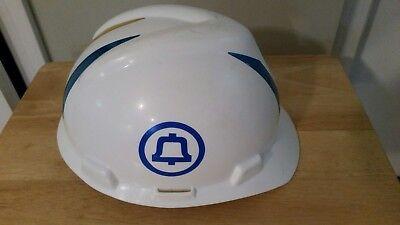 Vintage Hard Hat Safety Helmet Bell System Telephone Phone Msa At-8956-b