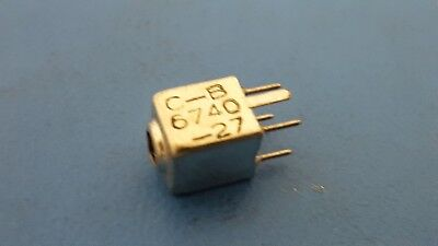 Variable Inductors Caddell Burns 6740-27 10-18uh Subminiature Shielded 7 Pcs
