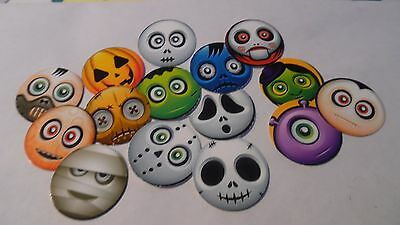 Pre Cut One Inch Bottle Cap Images Halloween Monster Faces Cute Free Shipping (Cute Halloween Faces)