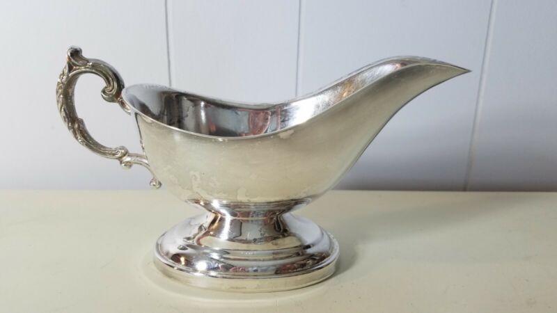 Vintage Silverplate Gravy Boat Lovely Handle