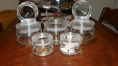 Glass Candy Jars Wholesale (6 IKEA Clear Glass Jars  - Storage - Kitchen - Tea,Cookies,Candy - Bath- Q-tip )