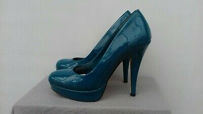 Dorathy PerkinsTeal Court Shoes Size 6 small platform patent look. summer/event (Dorathy Shoes)
