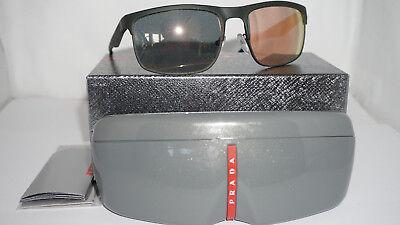 PRADA Sport New Sunglasses Green Rubber Grey Mirror Rose PS 56PS UAZ2D2 60 135