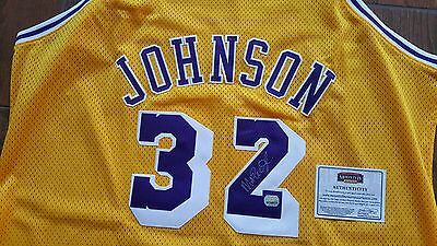 0a794591204 MAGIC JOHNSON AUTOGRAPHED SIGNED LA LOS ANGELES LAKERS #32 JERSEY MM