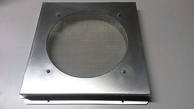 Abluftgitter Alu mit  224 mm Rohranschluss