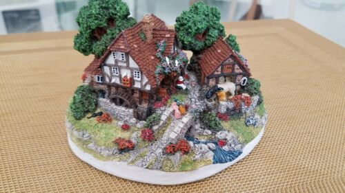 """DANBURY MINT  """"The Old Mill"""" by Jane Hart, Country Village Collection 1994"""