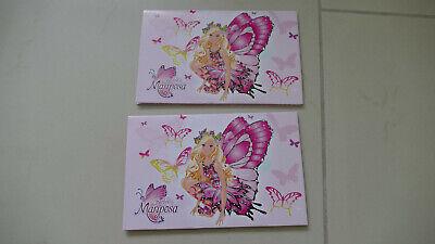 2x Karten, Barbie Mariposa, Einladungskarten, Kindergeburtstag, NEU